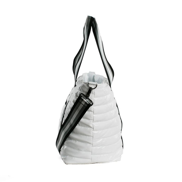 Think Royln - Wingman White Patent Tote Bag
