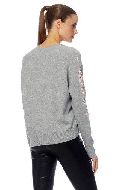 360 Sweater - Beatrice in Steel/Chalk Snake