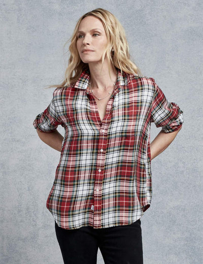Frank & Eileen - Women's Button Down in White/Red/Green/Black Plaid