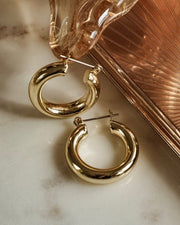 LUV AJ - The Baby Amalfi Tube Hoops in Gold