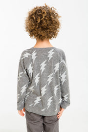 Chaser Kids - Boys Triblend Long Sleeve Raglan in Lightning Rock
