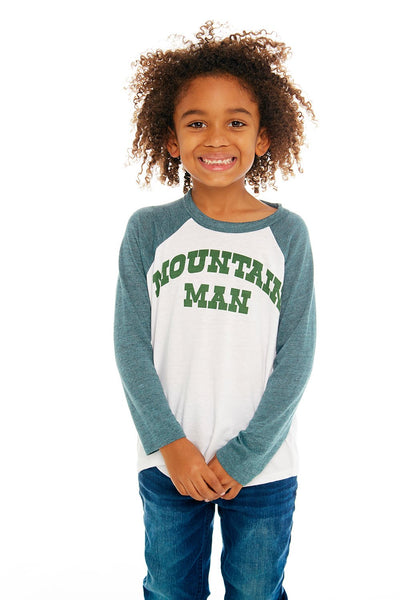 "CHASER KIDS - Boys Blocked Baseball T ""Mountain Man"""