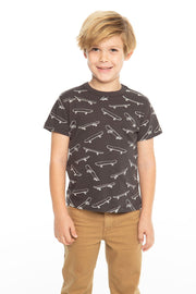 Chaser Kids - Boys Cotton Jersey Short Sleeve Crew Neck Tee In Vintage Black