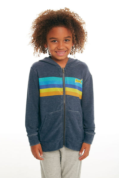 CHASER - Boys Cozy Knit Long Sleeve Zip Up Hoodie in Avalon
