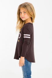 Chaser Kids - Girls High Low Shirttail in Love Arrows