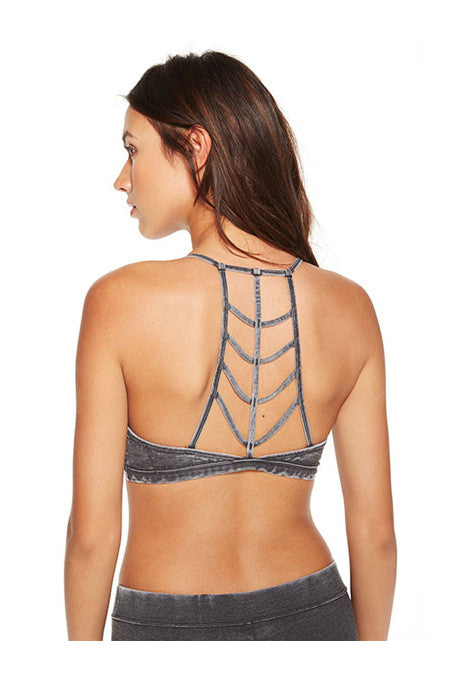 Chaser Chaser - Arrow Back Strappy Bralette Black at Blond Genius - 1