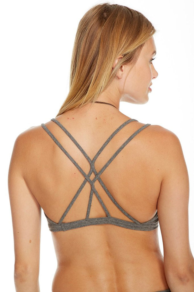 Chaser - Quadrablend Strappy Bralette MHGRY
