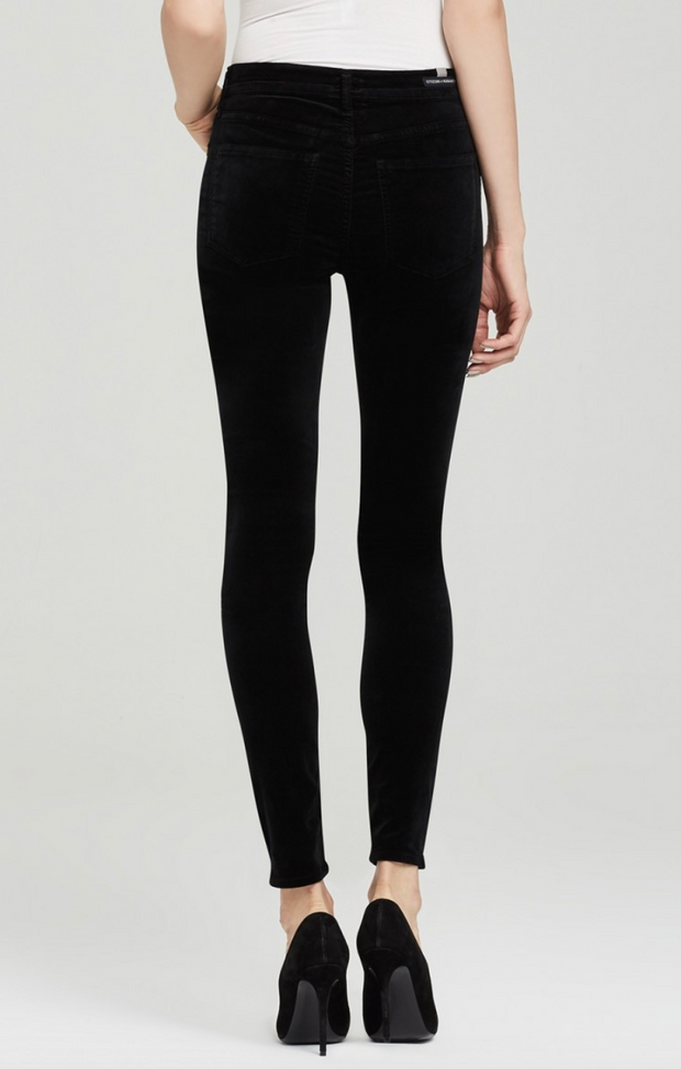 Citizens of Humanity - Rocket High Rise Skinny Black Velour