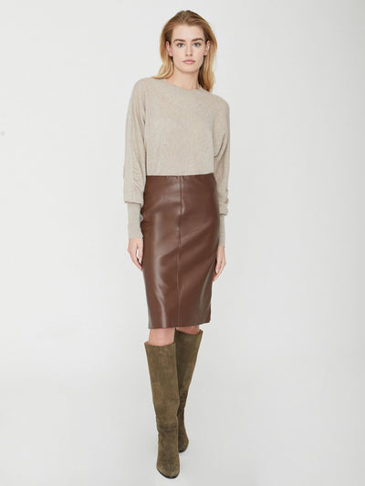 Brochu Walker - River Skirt in Char Brown