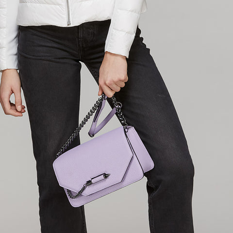 Mackage - Cortney Leather Crossbody Lilac