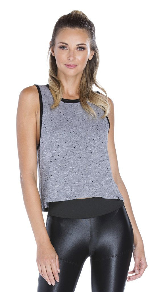 Koral - Crescent Crop Top Dove Grey
