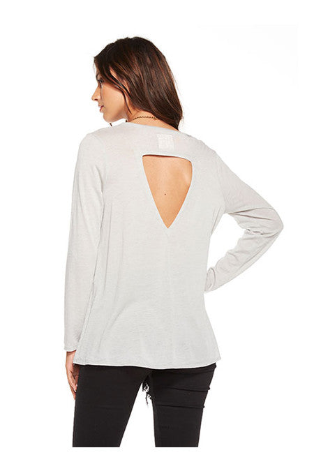 Chaser Chaser - Vintage Jersey Back Flounce Tee Cool Grey at Blond Genius - 2
