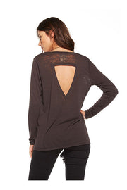 Chaser Chaser - Vintage Jersey Back Flounce Tee Union Black at Blond Genius - 2