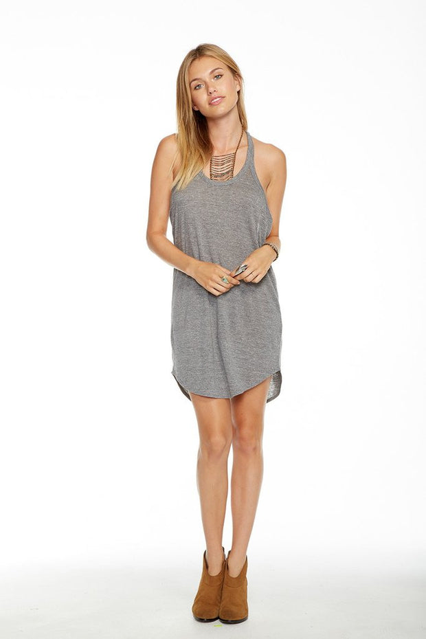 Chaser - Vintage Triblend Mini Dress Streaky Grey
