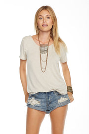 Chaser - Cool Jersey Hl Lo Shirttail Oatmeal