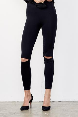 David Lerner - Split Knee Legging in Classic Black