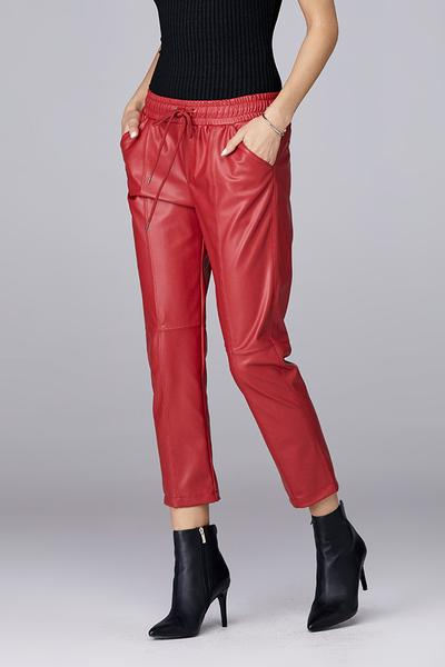 David Lerner - Seamed Tapered Jogger in Cherry