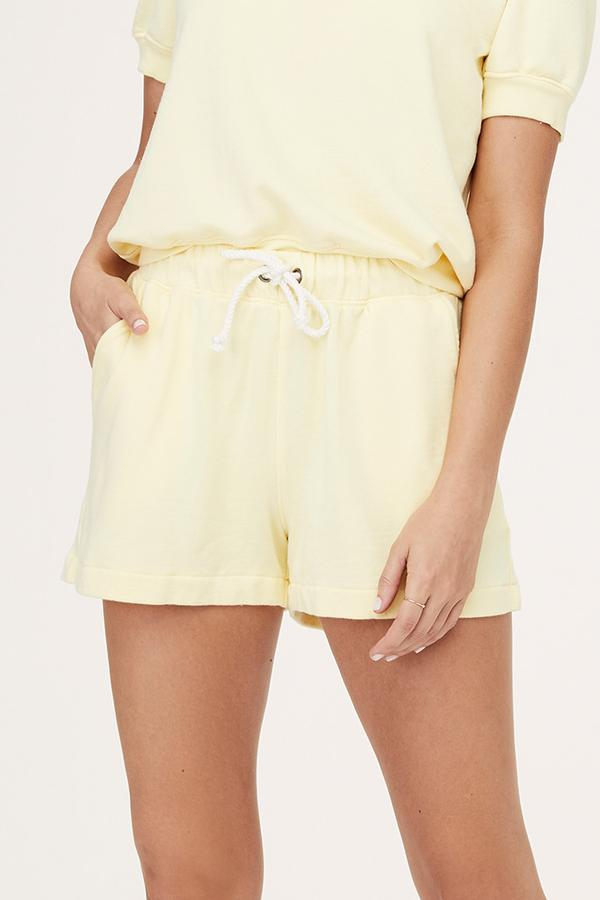 David Lerner - Britta High Rise Resort Short in Lemon