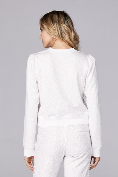 David Lerner - Puff Sleeve Pullover in Nude