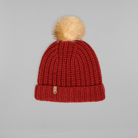Mackage - Doris Removable Fur Pom Pom Hat Paprika O/S