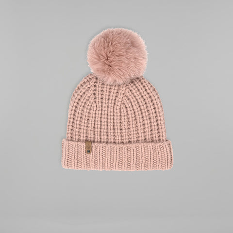 Mackage- Doris Removable Fur Pom Pom Hat Petal O/S
