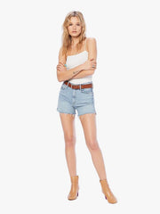 Mother Denim - High Waisted Rascal Slit Fray Short DBTP