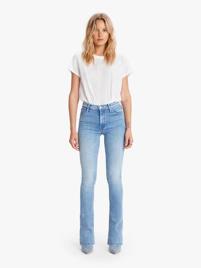 Mother Denim - High Waisted Runaway Jeans in Dropping In