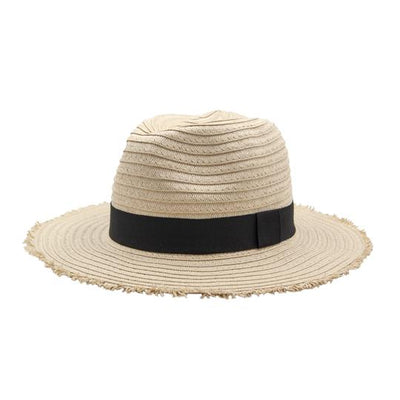 Henny & Coco - Demi Black Ribbon Girls Sun Hat