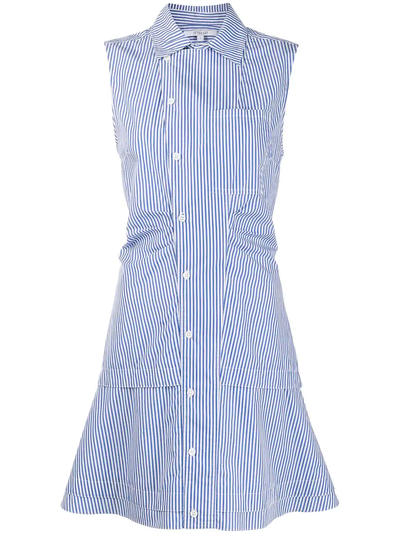 Derek Lam 10 Crosby - Satina Sleeveless Shirt Dress in Blue-White