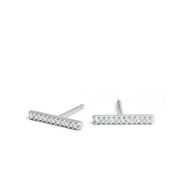 Adina - Pave Bar Posts Sterling Silver