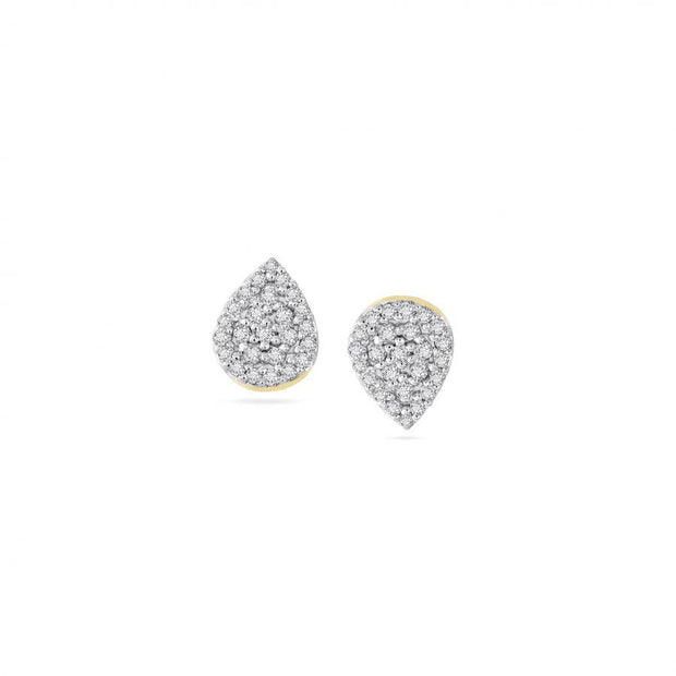 Adina Adina- Solid Pavé Teardrop Posts at Blond Genius