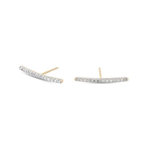 Adina - Pave Ear Hooks Yellow Gold