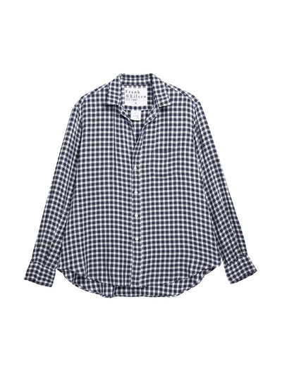 Frank & Eileen - Eileen Shirt in Small Navy, Light Blue Plaid