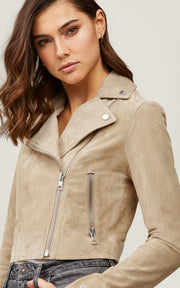 Soia & Kyo - Elaine Cropped Suede Jacket in Almond