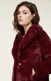 Soia & Kyo - Emanuela Faux Fur Jacket in Oxblood
