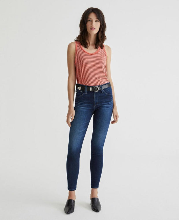 AG - Farrah Skinny Ankle Jeans in 4 Years Deep Willows