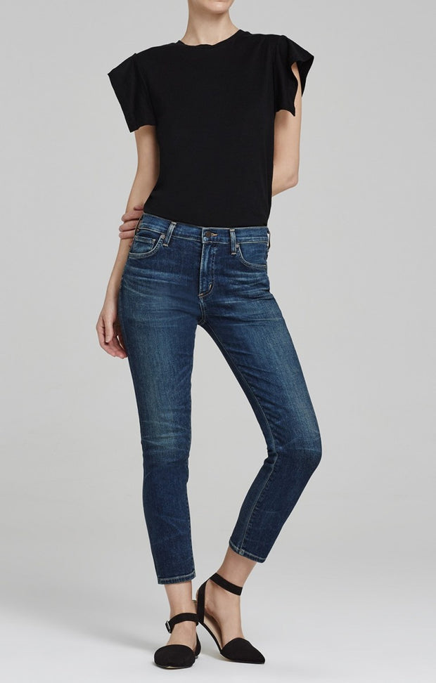 Citizens of Humanity - Agnes Mid Rise Crop Slim Straight Euclid