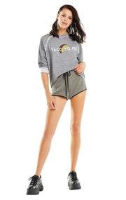 WILD FOX - Somers Sweater in Heather Grey