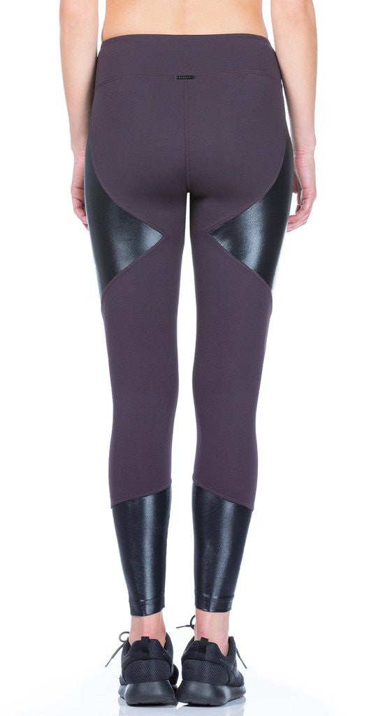 Koral KOR - Forge High Rise Legging Dark Plumw/ Black A2088HES04 at Blond Genius - 3