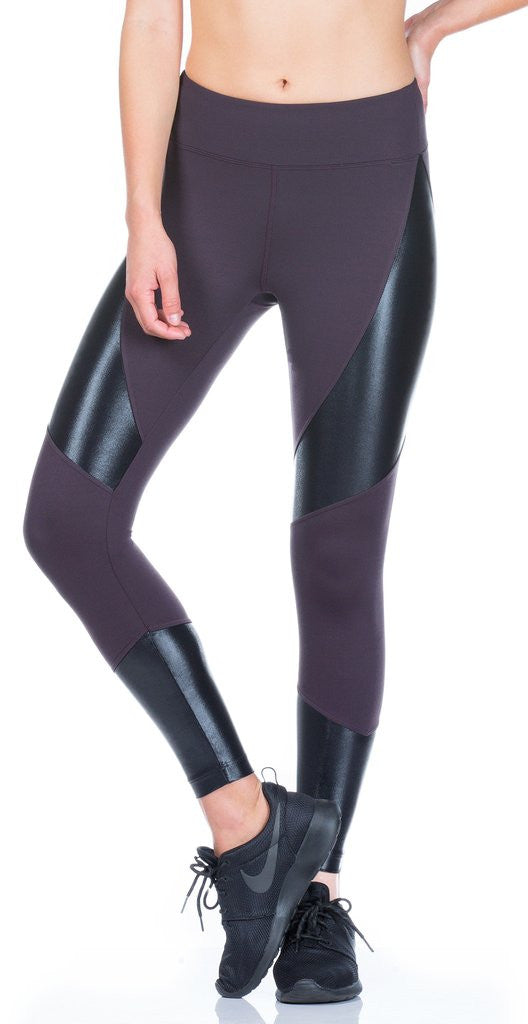 Koral KOR - Forge High Rise Legging Dark Plumw/ Black A2088HES04 at Blond Genius - 2