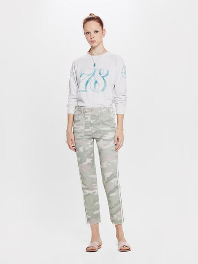 MOTHER DENIM - The Shaker Chop Crop Pant in Desert Print