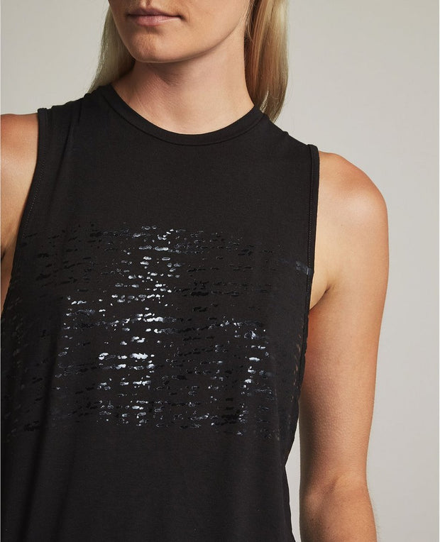AG - Clio Tank Distressed Black Foil/True Black
