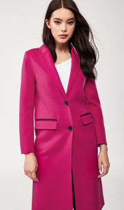 Mackage - Hens Double-Face Wool Coat in Fuchsia