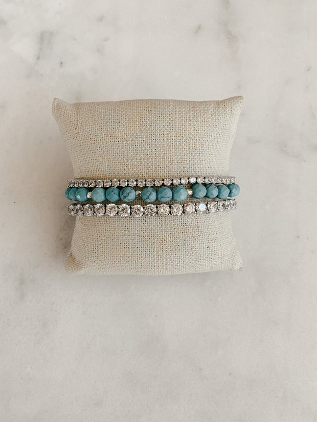 """Riley"" Bracelet Stack"