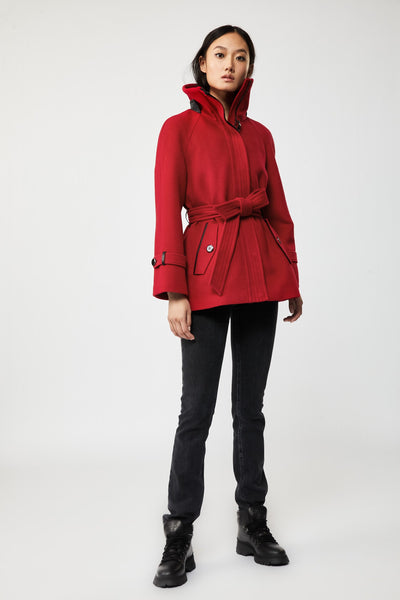 MACKAGE - Iva Wool Coat in Red