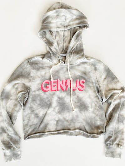 Blond Genius - Triple Threat Hoodie in Grey Tie Dye