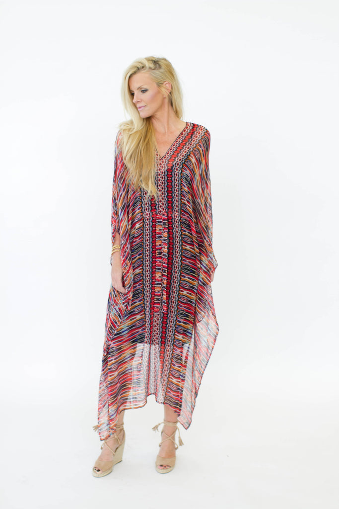 Ella Moss Chiffon Long Caftan Dress at Blond Genius - 1