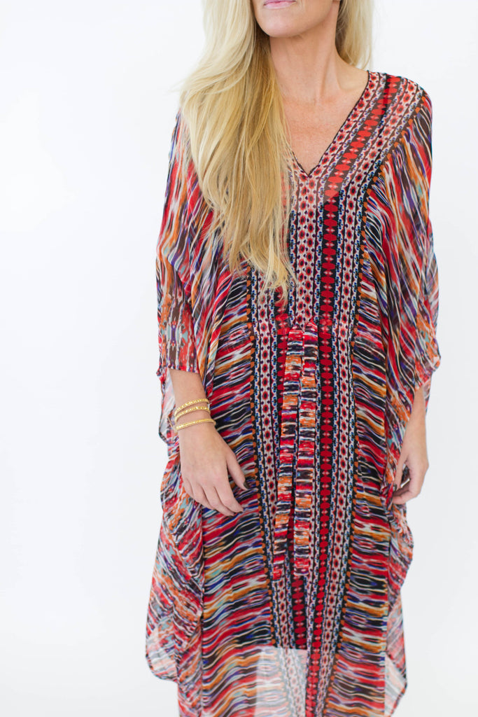 Ella Moss Chiffon Long Caftan Dress at Blond Genius - 2