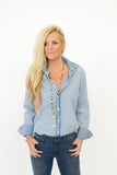 Blond Genius R&B Boyfriend Shirt Kenton W262C563V at Blond Genius - 1