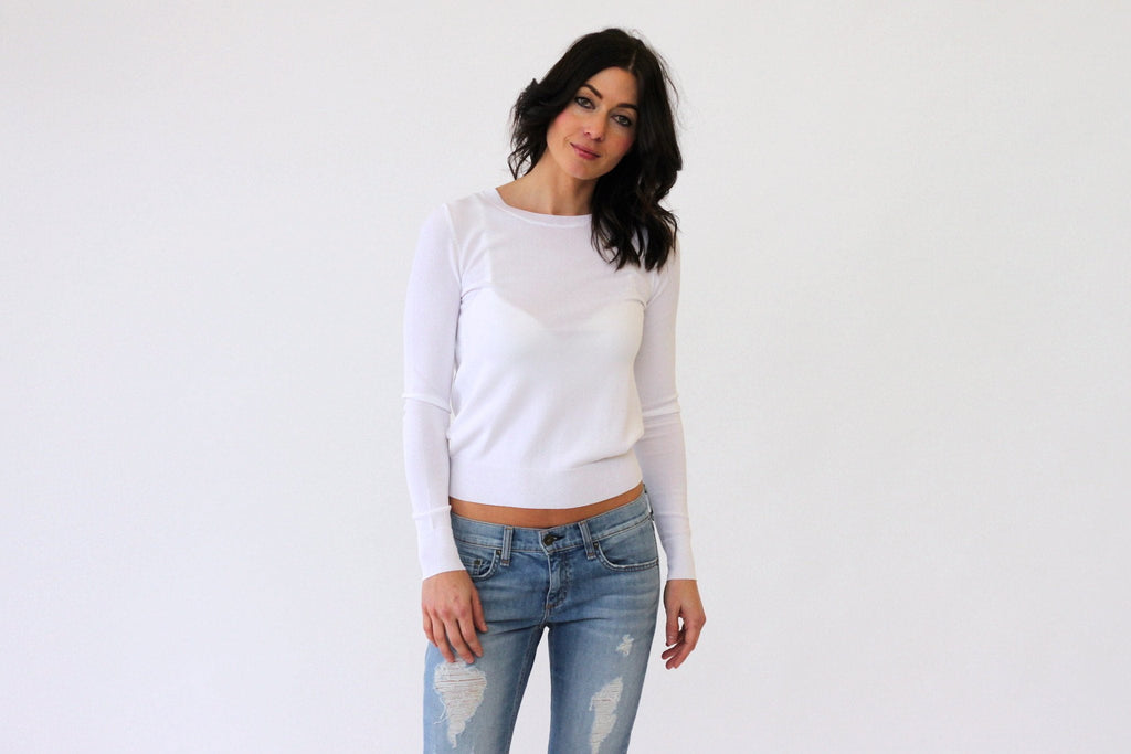 360 Sweater Ronna in White at Blond Genius - 1